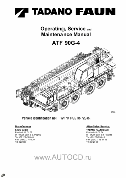 Tadano Faun All Terrain Crane ATF-90G-4, workshop manuals