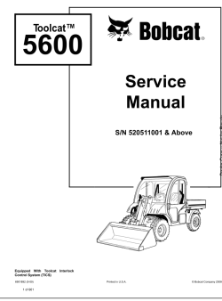 Bobcat Toolcat Work Machines, Service Manuals and