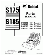bobcat s175 and s185 turbo spare parts catalog and. Black Bedroom Furniture Sets. Home Design Ideas