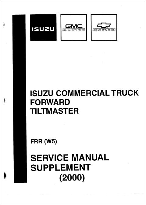 Isuzu NPR Diesel and F Series 2000-2003, Workshop manual