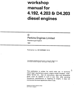 Perkins 203 Engine Manual