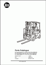 Toyota BT Forklifts Spare Parts PDF, Spare parts catalog