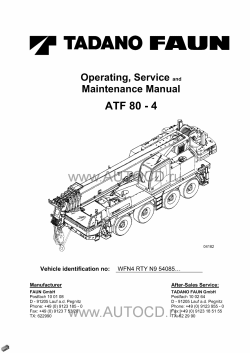 Tadano Faun All Terrain Crane ATF-80-4 Serial No. 4085003