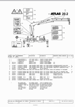 Atlas Cranes (TEREX), original spare parts catalog for