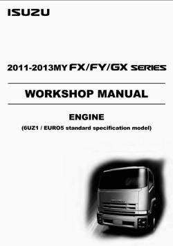 Isuzu Engine 6UZ1 Euro 5, repair manual for Isuzu Engines