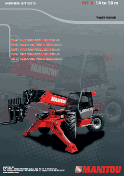 Manitou Workshop Manuals 2019, repair manuals for Manitou, PDF