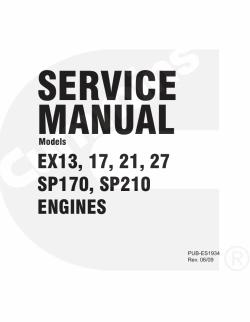 Robin Subaru Engines Service Manual EX13, 17, 21, 27