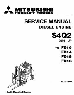Mitsubishi Engine S4Q2, Service manual for MMC diesel