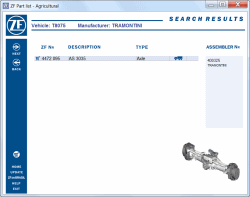 ZF Agricultural 2012, spare parts catalog identification for