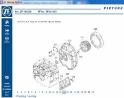 ZF Marine Gearbox 2017, spare parts catalog identification
